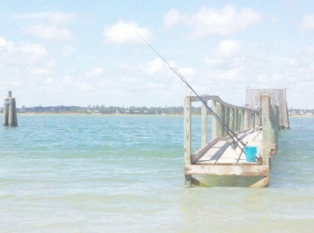 Beach water pier